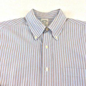 Brooks Brothers Mens Shirt Size Med Slim Fit Blue